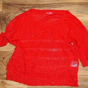 Holiday red crop sweater size medium